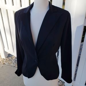 Fashion Bug solid black blazer suit jacket size 10